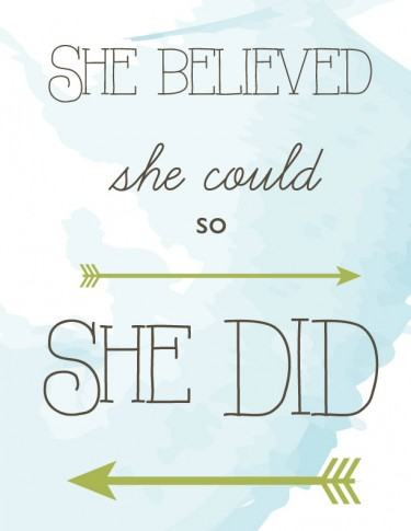 She believed she could so she did graphic