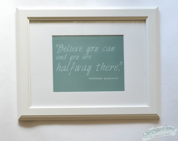 believe quote print