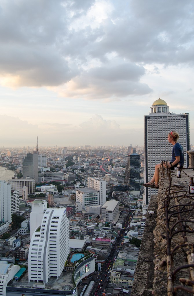 sitting on top of bangkok ghost tower