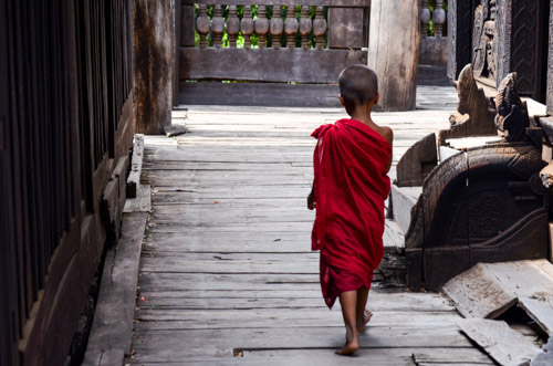 A young monk in Mandalay monastery